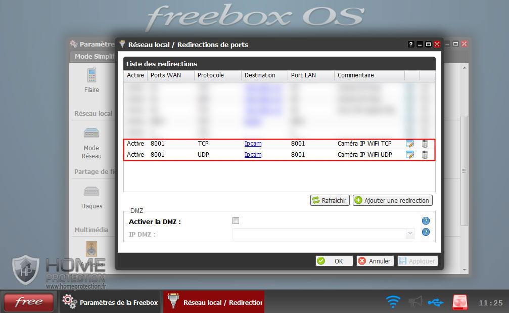 Liste des redirections de ports de la Freebox v6