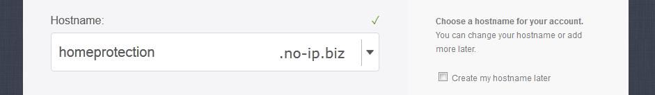 Interface du site no-ip.com