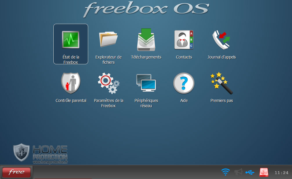 Menu Etat de la Freebox v6